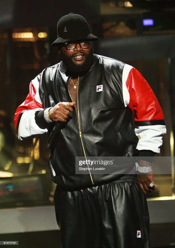 Rapper Rick Ross perfoms onstage at the 2009 VH1 Hip Hop Honors at the Brooklyn Academy of Music on September 23, 2009 in the Brooklyn borough of New York City.