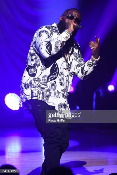 Rapper Rick Ross performs at the 2017 BMI RB/HipHop Awards at Woodruff Arts Center on August 31 2017 in Atlanta Georgia