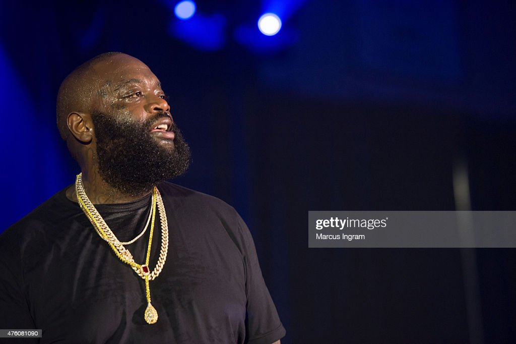 Rapper Rick Ross performs during Atlanta Greek Picnic weekend-Day 1 at Morehouse College - Forbes Arena on June 5, 2015 in Atlanta, Georgia.
