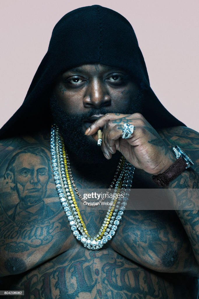Rapper Rick Ross photographed for GQ - Conde Nast on June 6, 2011, in New York City.