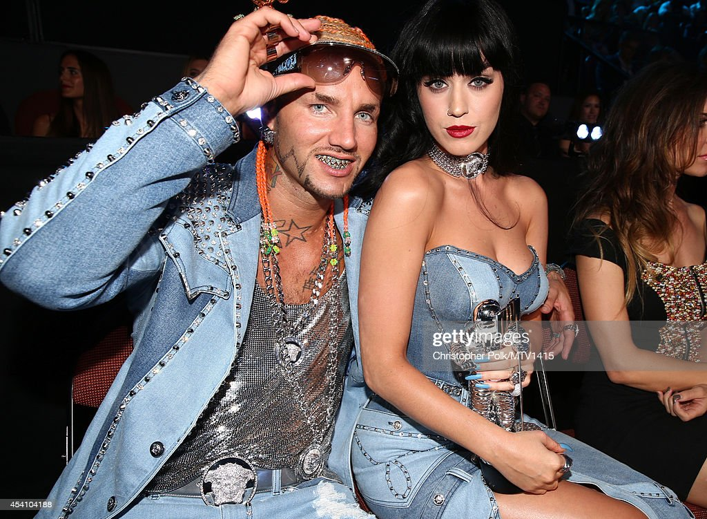 Rapper Riff Raff (L) and recording artist Katy Perry attend the 2014 MTV Video Music Awards at The Forum on August 24, 2014 in Inglewood, California.