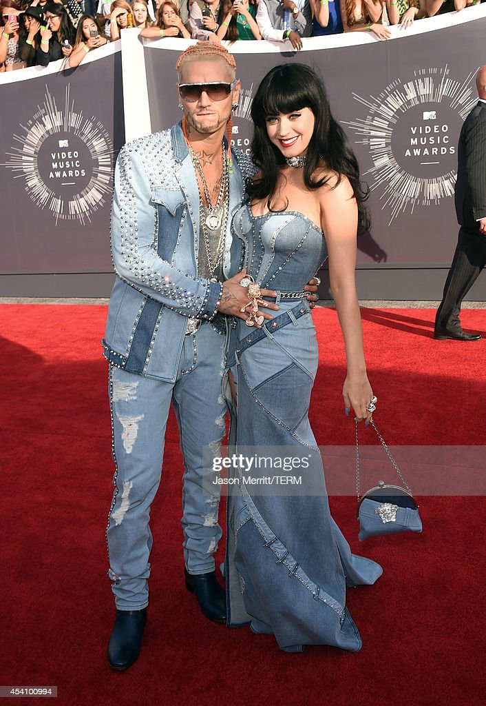 Rapper Riff Raff (L) and singer Katy Perry attend the 2014 MTV Video Music Awards at The Forum on August 24, 2014 in Inglewood, California.