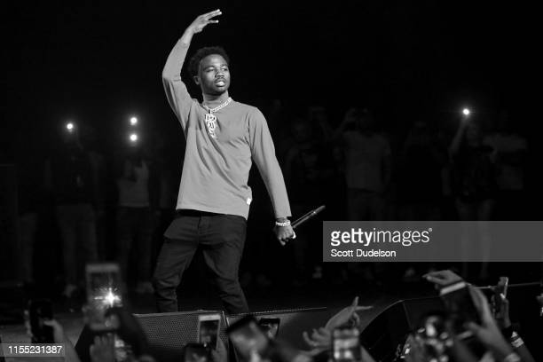 Rapper Roddy Ricch performs onstage at The Wiltern on June 10 2019 in Los Angeles California