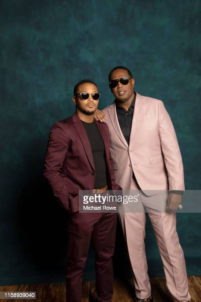 Rapper Romeo Miller and dad/record producer/rapper Master P is photographed for Essence.com on July 5, 2019 at 2019 Essence Festival in New Orleans,...