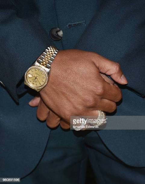 Rapper Romeo Miller watch detail arrives at the BET Her Awards Presented By Bumble at The Conga Room at LA Live on June 21 2018 in Los Angeles...