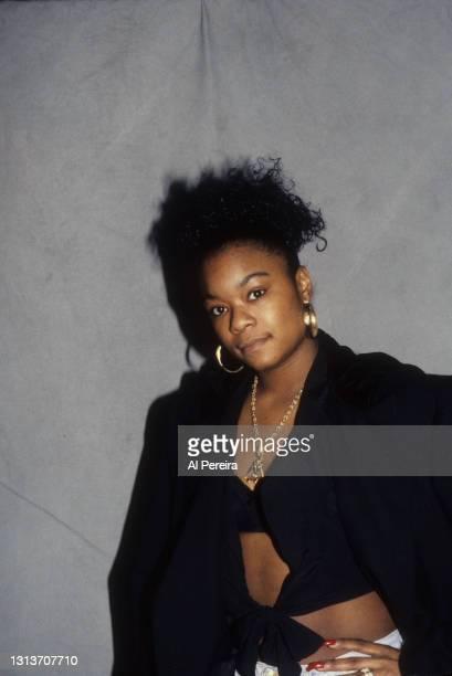 Rapper Roxanne Shante appears in a portrait taken on January 10, 1991 in New York City.