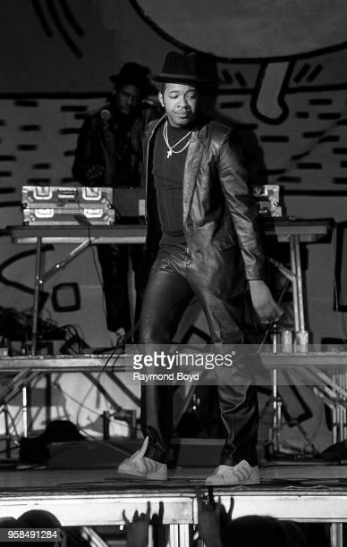 Rapper Run from Run DMC performs at the UIC Pavilion in Chicago Illinois in October1984