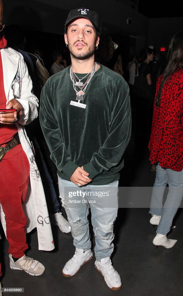 Rapper Russ attends Kith Sport fashion show at Classic Car Club on September 7, 2017 in New York City.