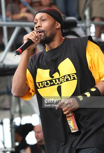 Rapper Rza of the Wu Tang Clan performs onstage at the Virgin Festival By Virgin Mobile 2007 at Pimlico Race Course on August 5 2007 in Baltimore...