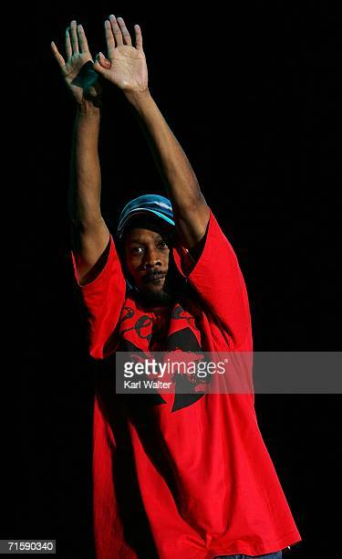 Rapper RZA performs onstage at San Diego Street Scene held at Qualcomm Stadium on August 4 2006 in San Diego California