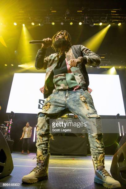 Rapper Sada Baby performs during the Big Show at Little Caesars Arena on December 28 2017 in Detroit Michigan