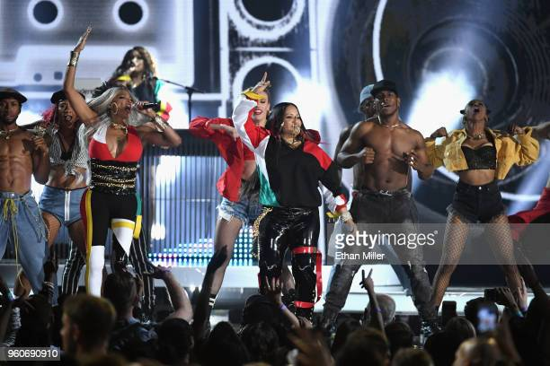 Recording artist Sandra Denton and Cheryl James of SaltNPepa perfrom onstage during the 2018 Billboard Music Awards at MGM Grand Garden Arena on May...