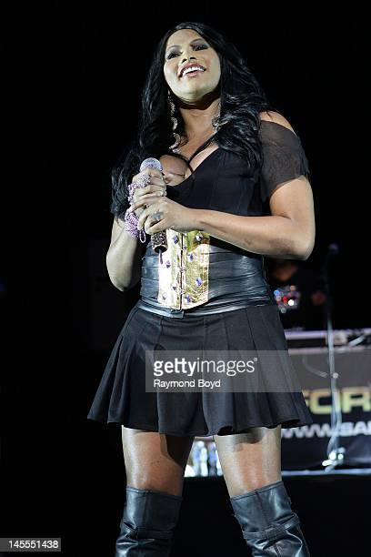 Rapper Sandra Pepa Denton of rap group SaltNPepa performs at the Arie Crown Theater in Chicago Illinois on MARCH 19 2011