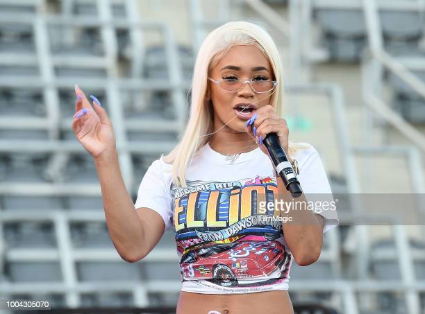 Rapper Saweetie performs HBO's Insecure Block Party at Banc of California Stadium on July 21 2018 in Los Angeles California