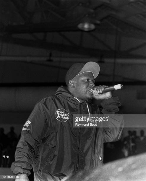 Rapper Scarface of the Geto Boys performs at the Regal Theater in Chicago Illinois in JANUARY 1992