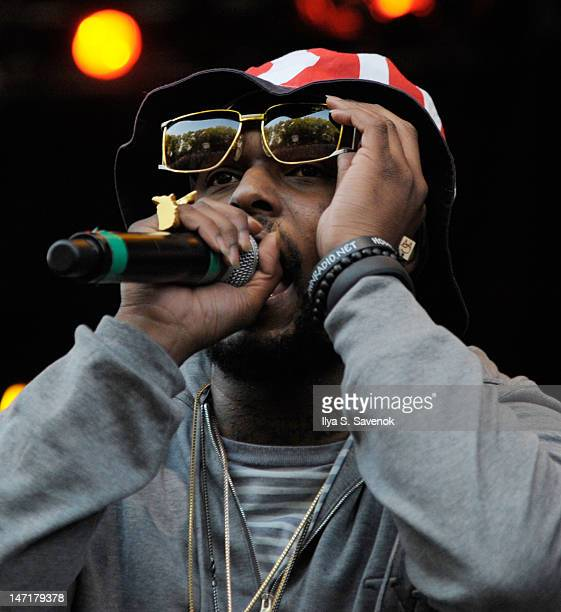Rapper Schoolboy Q performs at the Prospect Park Bandshell on June 26 2012 in New York City