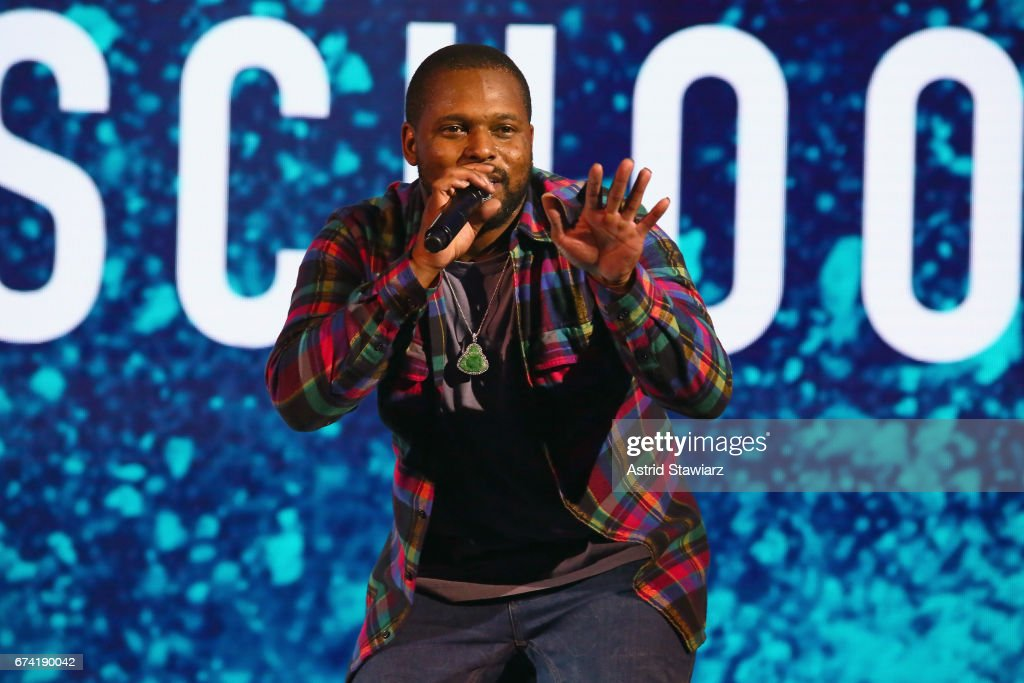 Rapper Schoolboy Q performs during the 2017 BET Upfront NY at PlayStation Theater on April 27, 2017 in New York City.