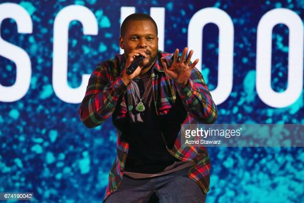 Rapper Schoolboy Q performs during the 2017 BET Upfront NY at PlayStation Theater on April 27 2017 in New York City
