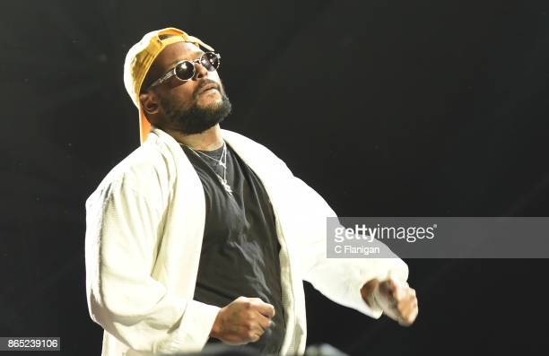 Rapper Schoolboy Q performs during the Rolling Loud Festival at Shoreline Amphitheatre on October 22 2017 in Mountain View California