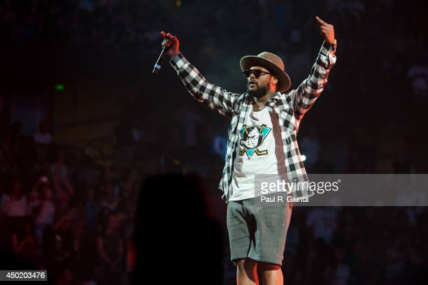 Rapper ScHoolboy Q performs onstage at the Power 106 Powerhouse at Honda Center on May 17 2014 in Anaheim California