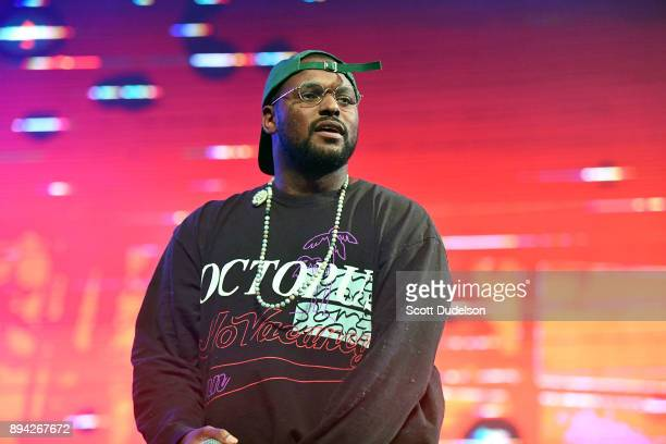 Rapper Schoolboy Q performs onstage at the Rolling Loud Festival at NOS Events Center on December 16 2017 in San Bernardino California