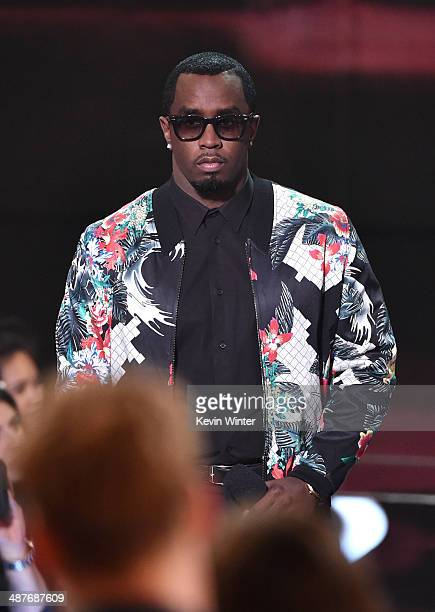 Rapper Sean 'Diddy' Combs speaks onstage during the 2014 iHeartRadio Music Awards held at The Shrine Auditorium on May 1 2014 in Los Angeles...