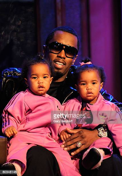 Rapper Sean Diddy Combs with his children D'Lila Star Combs and Jessie James Combs are seen taping MTV's Making The Band 4 season finale event at MTV...