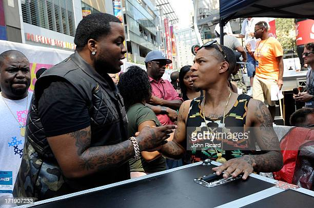 Rapper Sean Kingston and host Bow Wow during at 106 Park Live presented by Coke during the 2013 BET Experience at LA LIVE on June 29 2013 in Los...