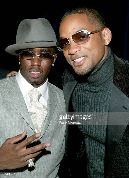 """Rapper Sean """"P Diddy"""" Combs and actor Will Smith pose backstage at VH1's Big In 2003 Awards on November 20, 2003 at Universal City in Los Angeles,..."""