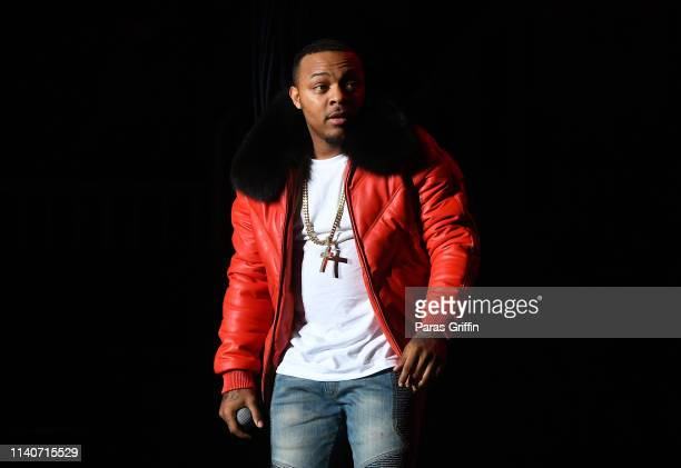 Rapper Shad Bow Wow Moss performs onstage during B2K's Millennium Tour at State Farm Arena on April 05 2019 in Atlanta Georgia