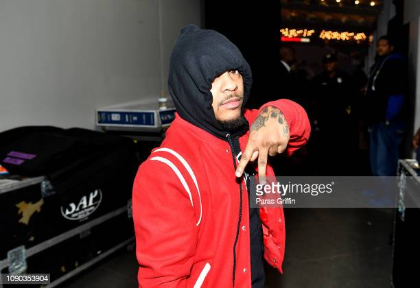 Rapper Shad Moss aka Bow Wow backstage during Puff Puff Pass Tour Snoop Dogg Friends at State Farm Arena on January 05 2019 in Atlanta Georgia