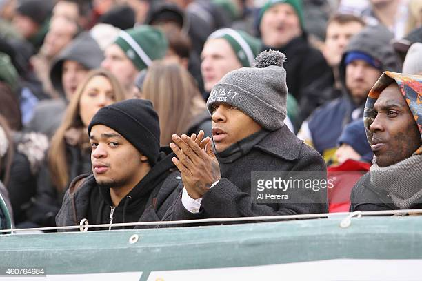 Rapper Shad Moss attends the NY Jets VS New England Patriots game at MetLife Stadium on December 21 2014 in East Rutherford New Jersey