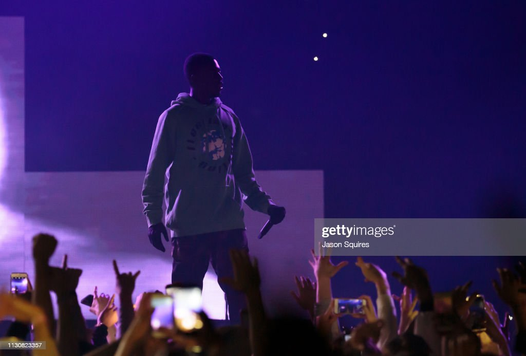 cf42d0116809 Rapper Sheck Wes performs at Sprint Center on February 17, 2019 in ...