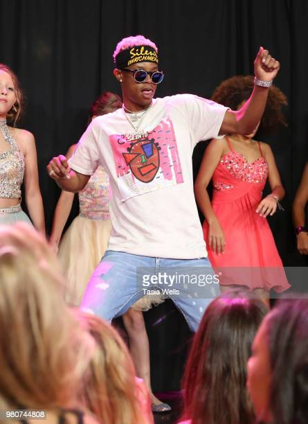 Rapper Silento performs onstage at Jillian Estell's red carpet birthday party with a purpose benefitting The Celiac Disease Foundation on June 15...