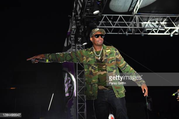 Rapper Silkk the Shocker performs onstage during the No Limit Reunion Tour at 2020 Funkfest at Legion Field on November 07, 2020 in Birmingham,...