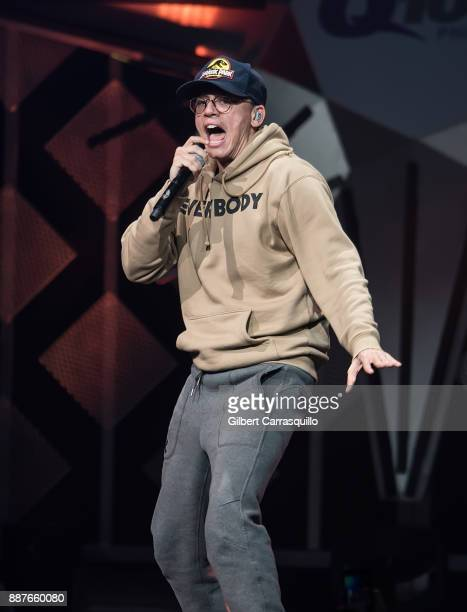 Rapper singersongwriter Logic performs onstage Q102's Jingle Ball 2017 Presented by Capital One at Wells Fargo Center on December 6 2017 in...