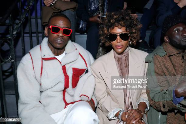 Rapper Skepta and Naomi Campbell attend the Louis Vuitton Menswear Fall/Winter 20192020 show as part of Paris Fashion Week on January 17 2019 in...