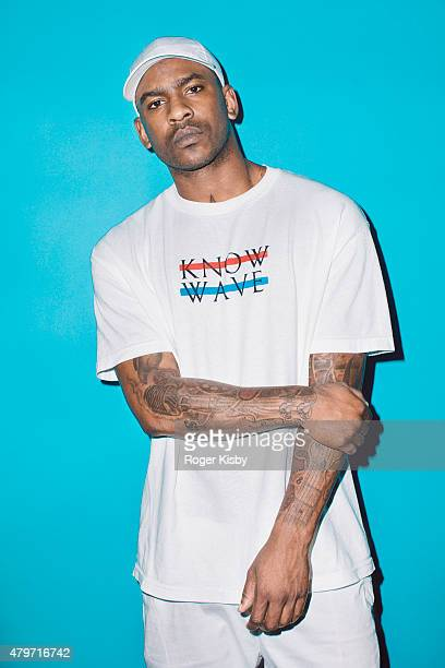 Rapper Skepta poses for a portrait backstage at The FADER FORT Presented by Converse during SXSW on March 19 2015 in Austin Texas
