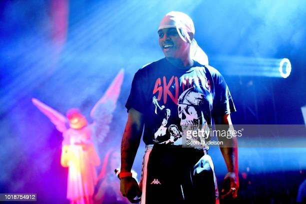 Rapper Ski Mask the Slump God performs onstage at The Novo by Microsoft on August 17, 2018 in Los Angeles, California.