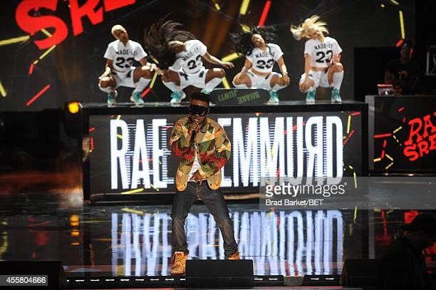 Rapper Slim Jimmy of Rae Sremmurd performs onstage during the BET Hip Hop Awards 2014 at Boisfeuillet Jones Atlanta Civic Center on September 20,...