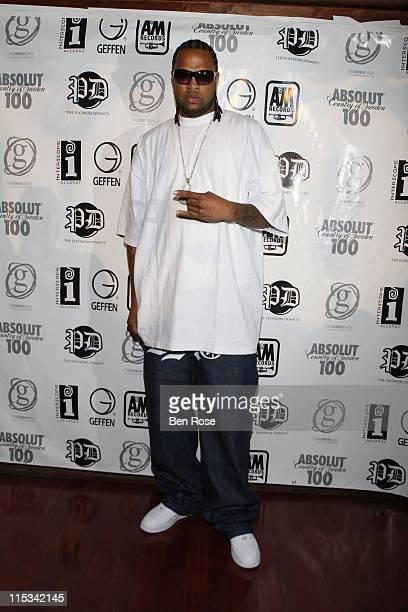 Rapper Slim Thug attends The IGA/The Platinum Dynasty/The Garner Circle BET Hip Hop Awards 2007 Gift Suite at Opera on October 12 2007 in Atlanta GA