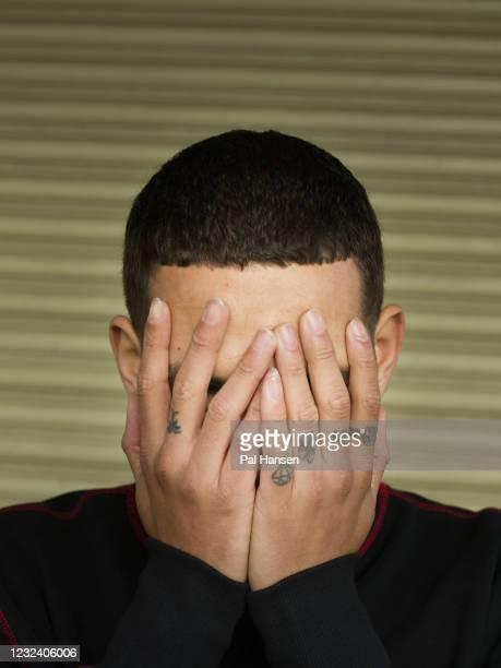 Rapper Slowthai aka Tyron Kaymone Frampton is photographed for the Observer on November 12, 2020 in London, England.