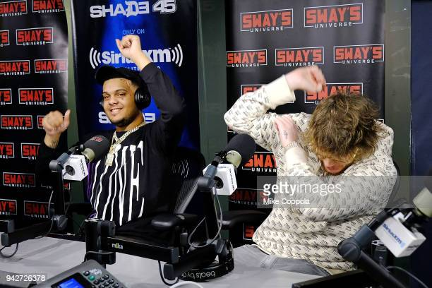 Rapper Smokepurpp and Murda Beatz visit 'Sway in the Morning' hosted by SiriusXM's Sway Calloway on Eminem's Shade 45æat the SiriusXM Studios on...