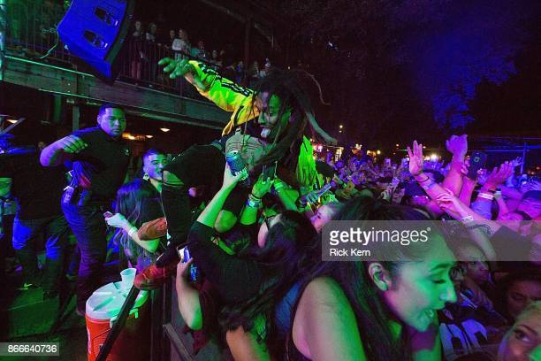 Rapper Smokerpurpp performs in concert at Stubb's BarBQ on October 25 2017 in Austin Texas