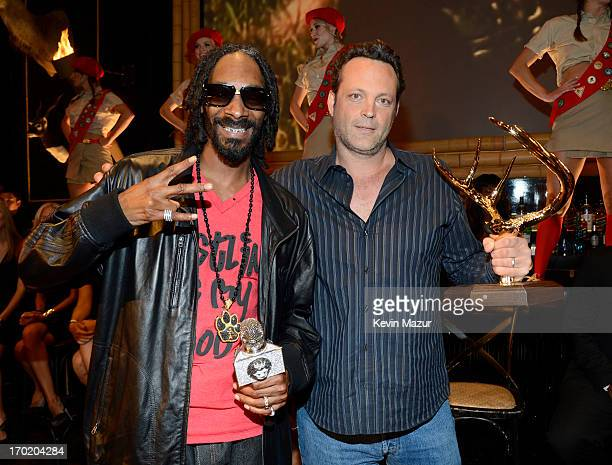 Rapper Snoop Dogg and actor Vince Vaughn attend the 2013 Spike TV Guys Choice at Sony Pictures Studios on June 8 2013 in Culver City California
