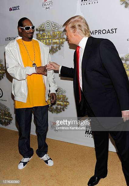 Rapper Snoop Dogg and Donald Trump attend the Comedy Central Roast Of Donald Trump at the Hammerstein Ballroom on March 9 2011 in New York City