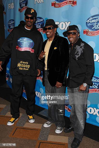 Rapper Snoop Dogg and guests arrive at the taping of Idol Gives Back held at the Kodak Theatre on April 6 2008 in Hollywood California
