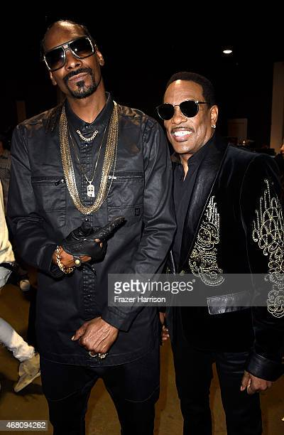 Rapper Snoop Dogg and musician Charlie Wilson attend the 2015 iHeartRadio Music Awards which broadcasted live on NBC from The Shrine Auditorium on...
