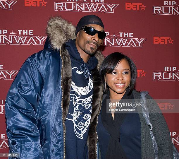 Rapper Snoop Dogg and wife designer Shante Broadus attend BET Presents Rip The Runway Arrivals on February 21 2008 in New York City