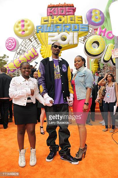 Rapper Snoop Dogg and wife Shante Taylor arrive at Nickelodeon's 24th Annual Kids' Choice Awards at Galen Center on April 2 2011 in Los Angeles...